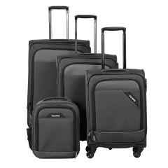 Travelite Derby 4w S,M,L Anthracite – sada 3 kufrov + Board Bag