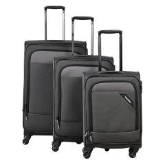 Travelite Derby 4w S,M,L Anthracite – sada 3 kufrov