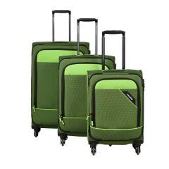 Travelite Derby 4w S,M,L Green – sada 3 kufrov
