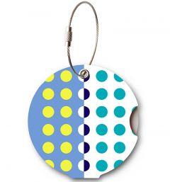 Addatag Menovka na kufor Multi Dots Blue