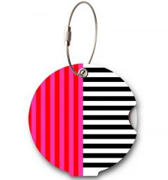 Addatag Menovka na kufor Multi Stripes Pink