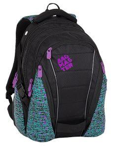 Bagmaster Bag 8 C Black/white/violet