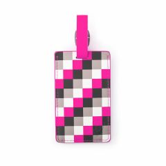 Heys Luggage Tag Pink Check