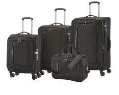 Travelite CrossLITE 4w S,M,L Black – sada 3 kufrů + BB