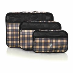 Heys Exotic Packing Cube Set Yellow plaid – súprava 3 ks