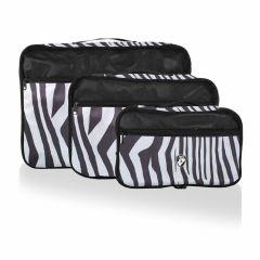 Heys Exotic Packing Cube Set Zebra – súprava 3 ks