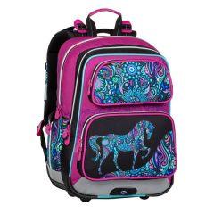 školní batoh Bagmaster Gen 20 A Pink/black/violet/blue