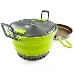 GSI Outdoors Escape 3L Pot + Frypan 3l green