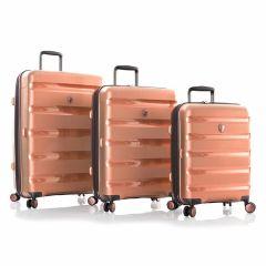 Heys Metallix Rose Gold S,M,L – súprava 3 kufrov