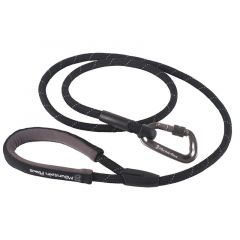 Mountain Paws Rope Dog Lead 11mm black 130cm