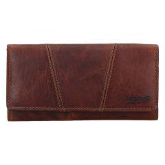 Lagen Dámska peňaženka kožená PWL-388/M Hnedá