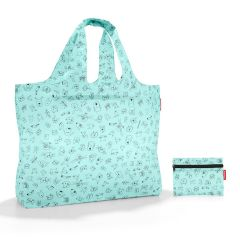 Reisenthel Mini Maxi Beachbag Cats and dogs Mint