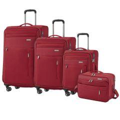 Travelite Capri 4w S,M,L Red – súprava 3 kufrov + BB