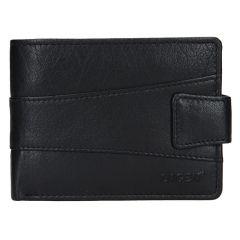 Lagen Pánska peňaženka kožená V-98 Čierna