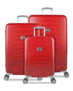 SUITSUIT TR-1239/3 Red diamond crocodile – súprava 3 kufrov