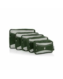 Heys Eco Packing Cube 5pc Set II Green