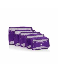 Heys Eco Packing Cube 5pc Set II Purple
