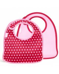 Built Infant Bib Baby Pink Mini Dots