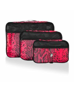 Heys Exotic Packing Cube Set Red python – súprava 3 ks