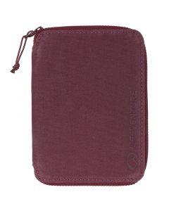 Lifeventure RFiD Mini Travel Wallet Aubergine