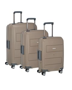 Travelite Makro 4w S,M,L Taupe – sada 3 kufrov