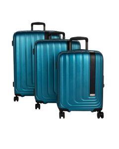 March Beau Monde S,M,L - súprava 3 kufrov Omega Blue metallic
