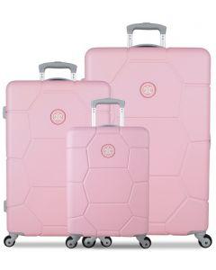 61440ef337f4e SUITSUIT TR-1231/3 súprava 3 kufrov ABS Caretta Pink Lady