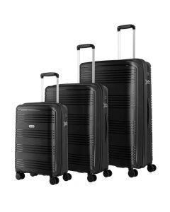 Travelite Zenit S,M,L Black - sada 3 kufrů