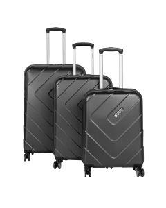 Travelite Kalisto S,M,L Anthracite – súprava 3 kufrov
