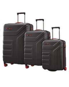 Travelite Vector 2w S, 4w M,L Black – súprava 3 kufrov