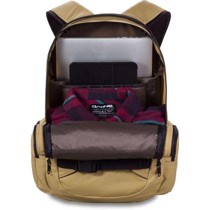 Dakine Mission 25L Tamarindo Batoh Dakine Mission 25L je viacúčelový batoh, ktorý ponúka množstvo vychytávok.  - vertikálne úchyty na snowboard alebo skateboard - priestranné hlavné vrecko na zips - vystužené vrecko na notebook až 15