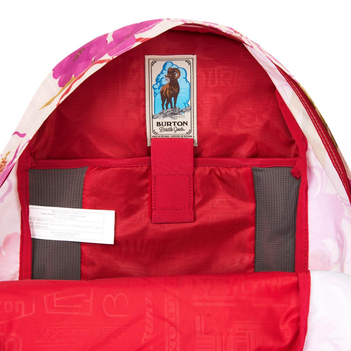 Burton Kettle Pack Vintage Aloha Klasický batoh šitý na mieru všetkým študentom má jednu priestrannú hlavnú komoru, v ktorej nájdete zabudovanú priehradku na notebook.
