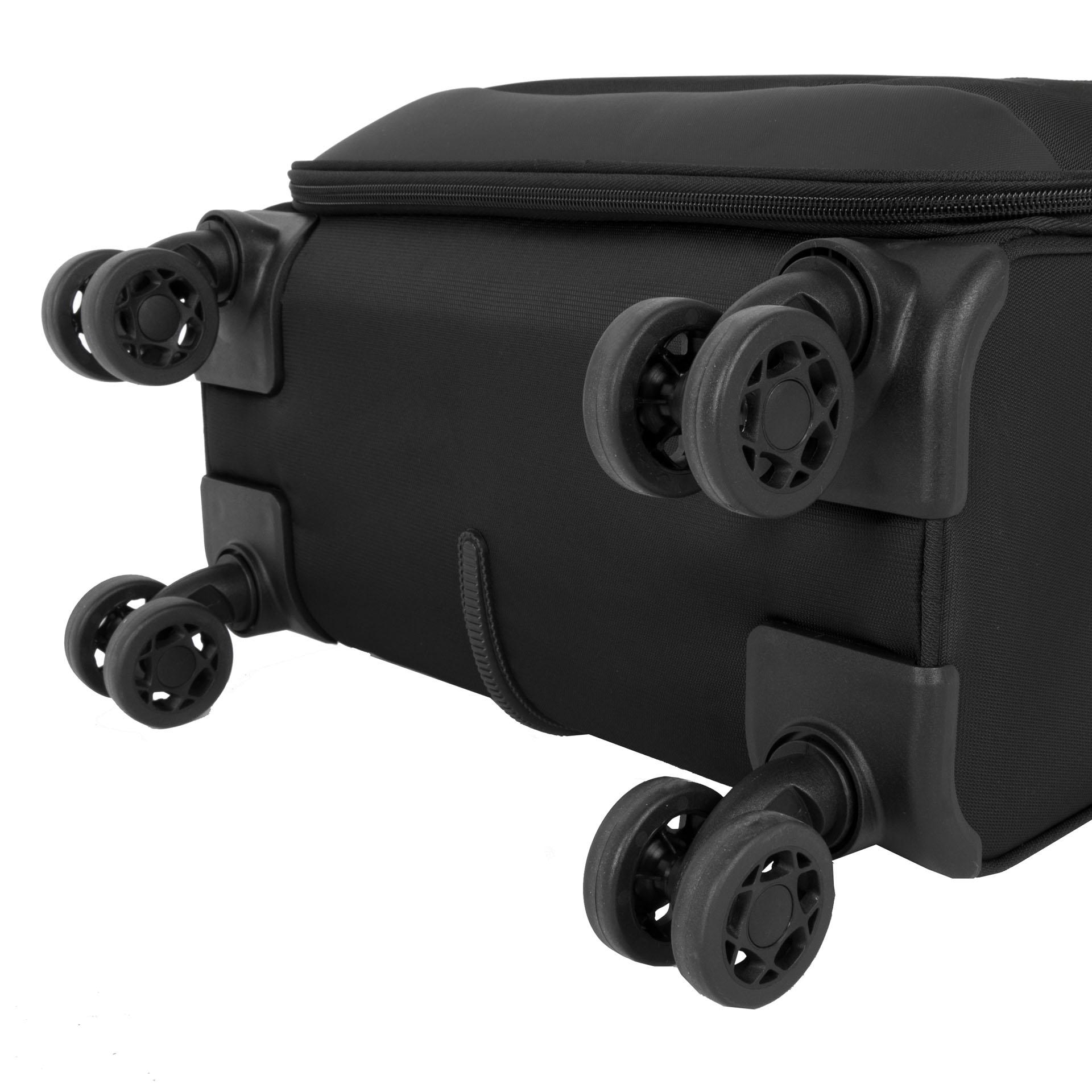 March Stardust S Black.  - kufor S je väčšinou leteckých spoločností akceptovaný ako palubný - štyri tiché dvojkolieska rotujúce v 360° - výsuvná hliníková rukoväť s aretáciou - zabudovaný TSA kombinačný zámok - luxusný interiér a externé vrecko - päťročná záruka