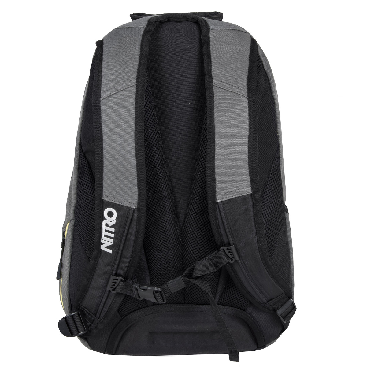 Nitro Stash Gunmetal Pokiaľ trávite v škole alebo v práci väčšinu dňa a potrebujete mať so sebou naozaj veľa vecí, je batoh Nitro Stash vhodným kandidátom na vašu novú batožinu.