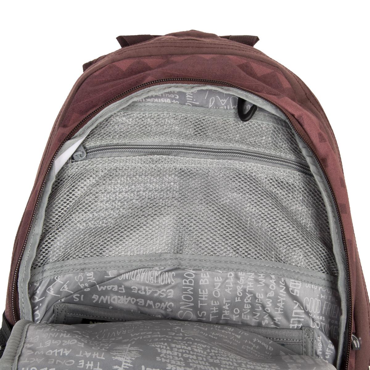 """Nitro Stash Northern patch Pokiaľ trávite v škole alebo v práci väčšinu dňa a potrebujete mať so sebou naozaj veľa vecí, je batoh Nitro Stash vhodným kandidátom na vašu novú batožinu.  - vypchaté vrecko na notebook veľkosti 15"""" - jemne vypchaté vrecko na okuliare a iné podobne krehké veci - priechodka na slúchadlá - vnútri batoha prehľadný organizér - predné termoizolačné vrecko na olovrant alebo pitie - postranná sieťka na fľašu - postranné vrecúško na zips"""