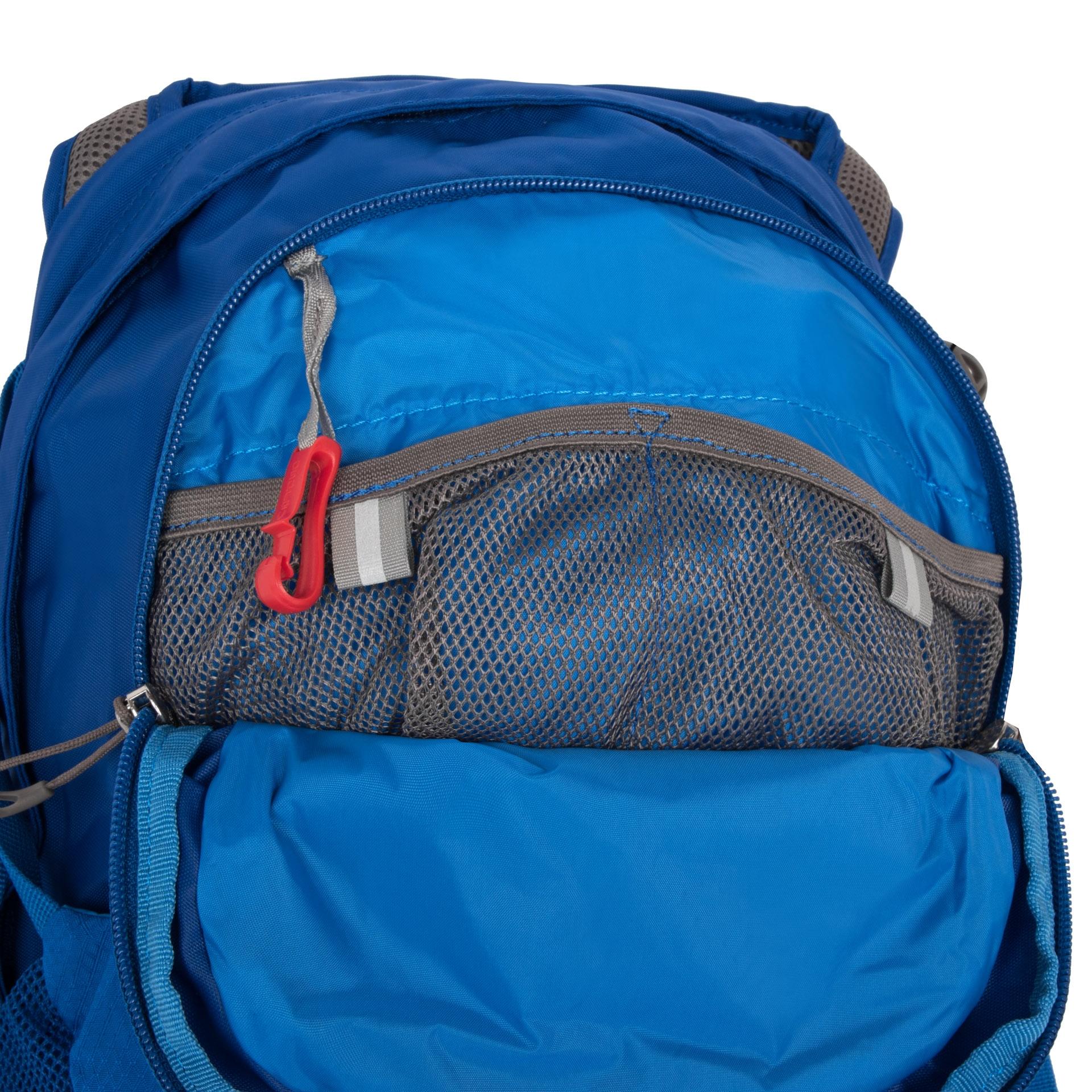 Osprey Daylite II Tahoe blue Cestujete radi naľahko len s pár vecami na chrbte? - vystužený chrbtový panel s perforovaním pre lepšie odvetrávanie a cirkuláciu vzduchu- látková vrecko s pružným lemom na uloženie tabletu- hrudný popruh s pohotovostnou píšťalkou- zatváranie hlavnej komory na zips- vnútorné vrecko na doklady- kompatibilný s vakmi na voduOsprey Hydraulics a Hydraulics LT- karabína na kľúče- odnímateľný bedrový popruh- bočné kompresné popruhy- bočné strečové vrecká- unisex prevedenie- možnosť pripnutia na vybrané turistické batohy Osprey