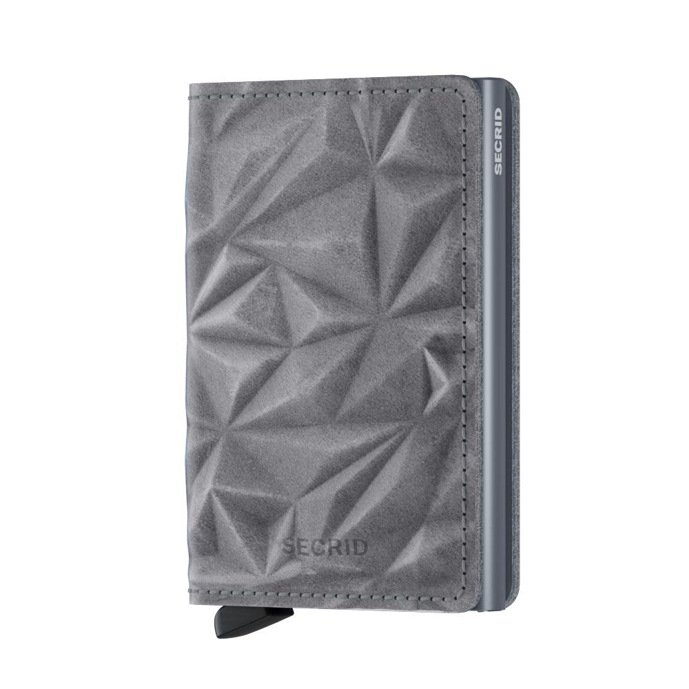 Secrid Slimwallet Prism Stone.  - priestor pre 4 embosované či 6 plochých kariet  - oddiel pre 4 extra karty  - priestor pre bankovky, vizitky aj účtenky  - vyrobené z európskej hovädzej usne
