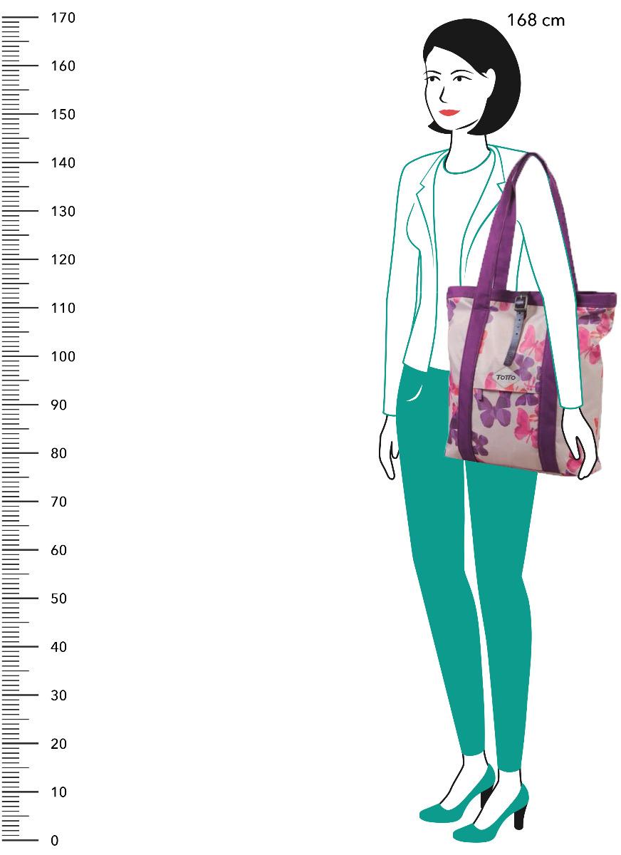 Totto Chatalli Butterflies Štýlová taška Chatalli s jemnou potlačou je praktickým pomocníkom pri každodenných nákupoch aj domysleným módnym doplnkom, ktorý využijete kedykoľvek ako tašku do mesta alebo priestornejšiu kabelku.